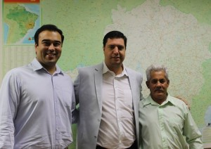 Tito Torres e os vereadores  Guilherme Nasser e Sinval Dias