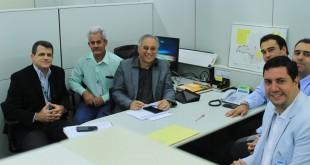 Ernando Braga, Sinval Dias, Roberto Carvalho, Guilherme Nasser, Teófilo Torres e Tito Torres em audiência na Cemig