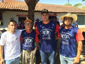 Tito Torres acompanhado do vereador Dilsinho, do fazendeiro Paulo Lima e do líder político Nem.