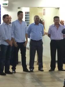 Tito Torres prestigiou a solenidade acompanhado de autoridades políticas da região.