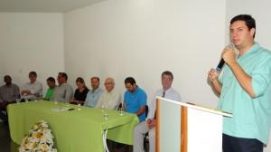 Tito Torres em seu discurso na cerimônia de Posse.