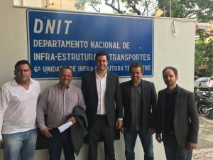 Tito Torres e vereadores de Itabira André Viana, Decão Alain e Neidson