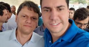 Ministro de Infraestrutura, Tarcísio Freitas e o deputado Tito Torres participam de inauguração de trecho duplicado da BR-381