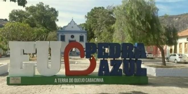 Letreiro foi uma das obras inauguradas no aniversario de Pedra Azul