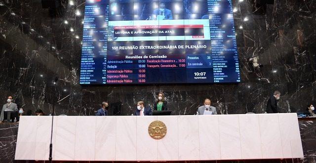 Tela votação remota Assembleia de Minas